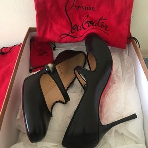 Christian Louboutin Black Booton MaryJane Pumps 40